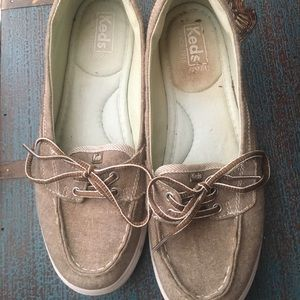 Keds brown boat shoes